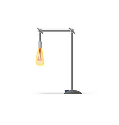 Office desk lamp flat cartoon style vector