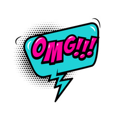 Omg comic style phrase with speech bubble vector