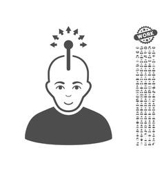 Optical Neural Interface Icon With Bonus vector