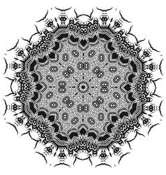 Ornamental Mandala Silhouete vector