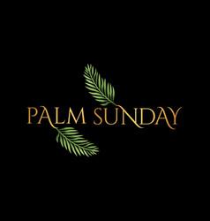 Palm sunday christian holiday theme vector
