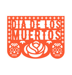 papel picado mexican paper decorations for party vector image
