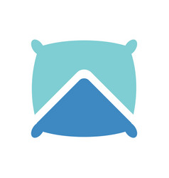 Pillow and up arrow logo icon design template elem vector