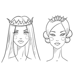 Princess Sketches style vector