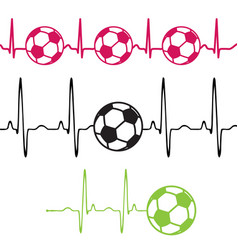 Pulse football set vector