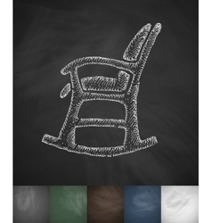 rocking chair icon Hand drawn vector image