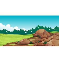 Rocks at the field vector