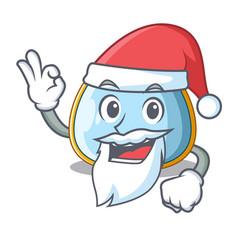 Santa baby bib isolated on the mascot vector