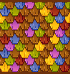 Seamless pattern colorful geometric tiled roofs vector