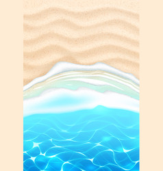 Seaside beach azure waves sand coast vector