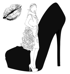Seduction of high fashion vector
