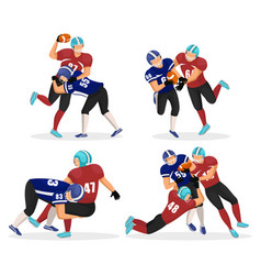Set moments where men play in american football vector