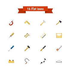set of 16 editable apparatus icons includes vector image vector image