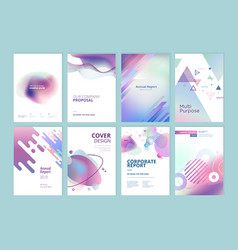 set of brochure annual report design template vector image