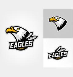 Set three eagle logos vector