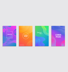 shapes with gradient modern design vector image