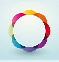 simple colorful circular vignette vector image
