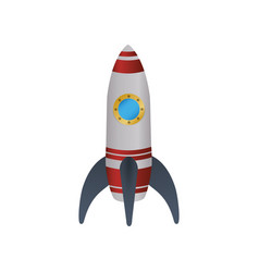 spaceship rocket symbol vector image