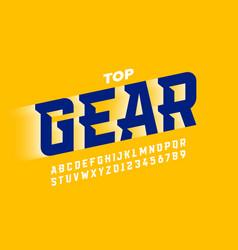 Speed sport style modern font vector