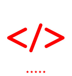 symbol code icon different color vector image