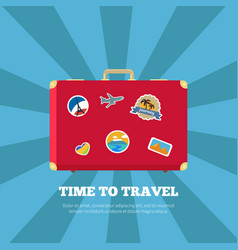 time to travel journey poster vector image