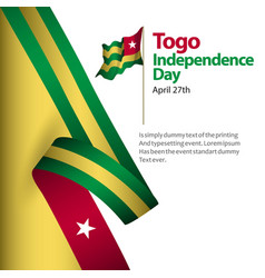 Togo independence day template design vector
