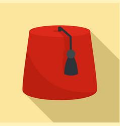 Turkish hat icon flat style vector