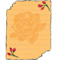 valentines day love letter vector image