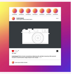 video frame for social networks landscape aspect vector image