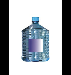 Water bottle on a white background vector