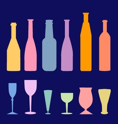 wine bottle glass vector image