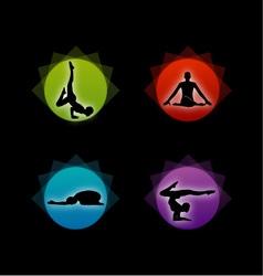 Yoga pilates set vector image
