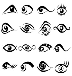 Abstract eye symbol set vector image vector image