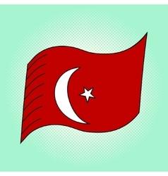 Flag of turkey pop art vector