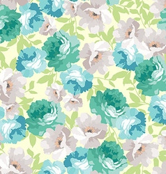 Floral pattern with blue roses vector image vector image