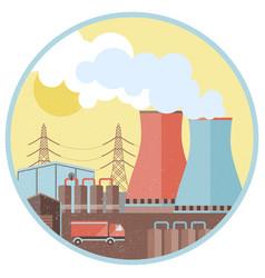 industrial factory design concept vector image