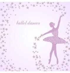 Tender ballerina with flowers vector image
