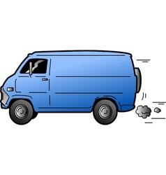 Cool Van vector image vector image