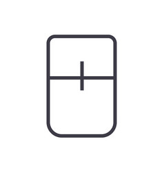 touch mouse line icon sign vector image
