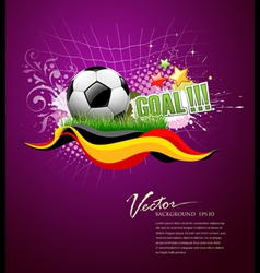 football goal vector image vector image
