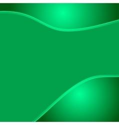 Green wave eco abstract two glossy waves natural vector image vector image