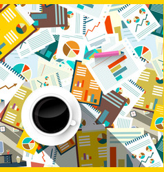 paperwork background top view forms tax and vector image vector image