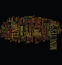 Ten in ten text background word cloud concept vector