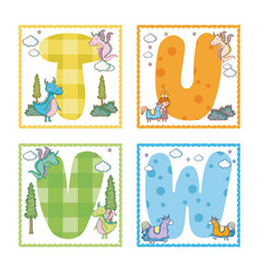 alphabets letters for kids vector image