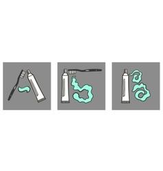 Decoartive Font Toothpaste Part 1 vector image