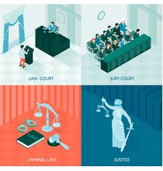Isometric law design concept vector