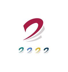 leter d swirl logo vector image