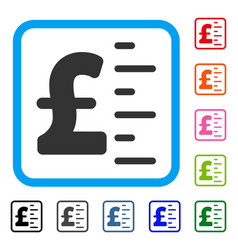 Pound value framed icon vector