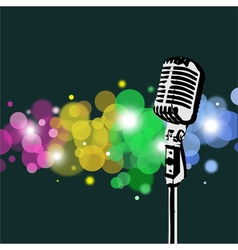 Retro Microphone abstract Spotlight vector image vector image