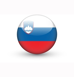 Round icon with national flag of Slovenia vector image